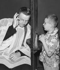 Who knew Brian Williams also serves as Confessor! My hair was much shorter back in the day :)