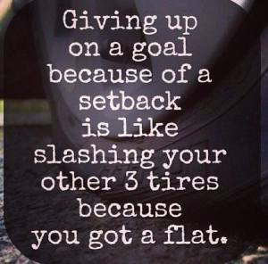 Don't give up on goals