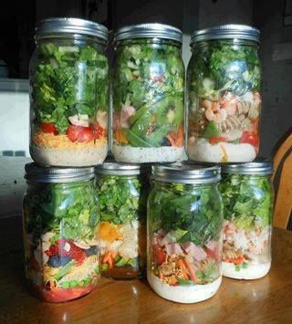 Salad in a jar for Friday Five