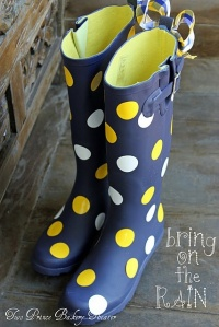 polka dot boots