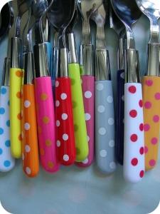 Polka dot happy spoons