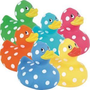 polka dot rubber duckys