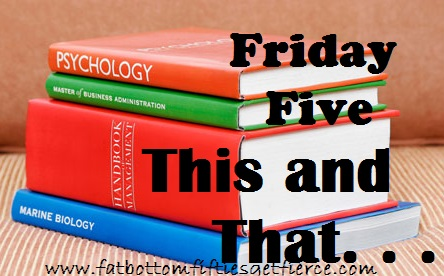 Friday Five: This and Than