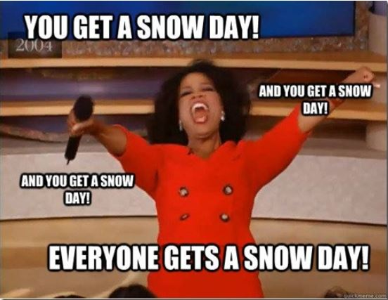 Oprah giving out snow days